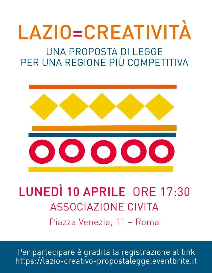Lazio=Creatività. Save the date